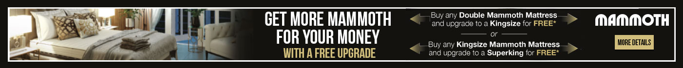 Get more mammoth for your money with a free upgrade